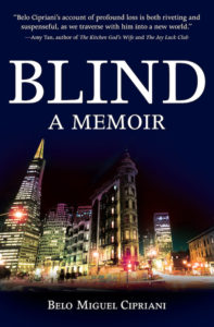 Picture of the book cover for Blind: A Memoir, by author Belo Cipriani.